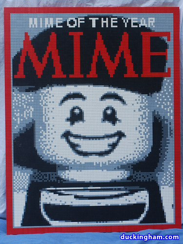 LEGO mosaic Mime Magazine: Mime of the Year | by Duckingham