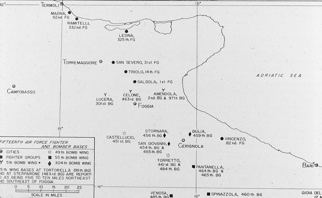 15th Air Force Map Foggia Italy During World War II in Flickr
