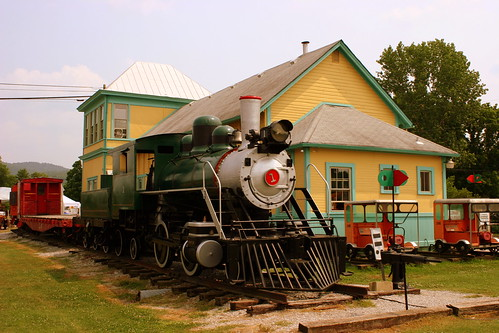 Cowan, TN Train Depot and Steam Locomotive