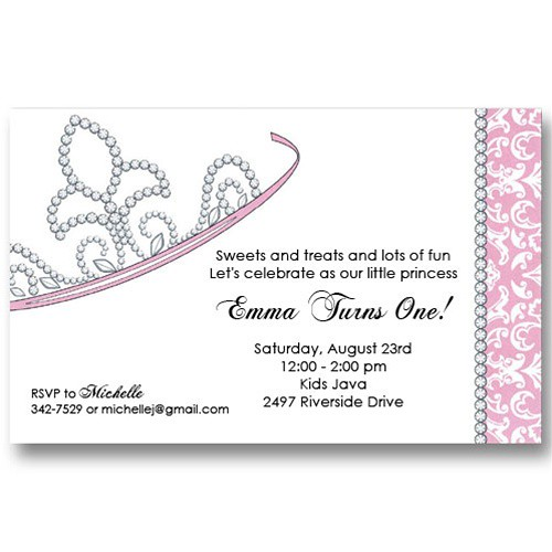 Princess Tiara Crown Birthday Invitations For card details Flickr