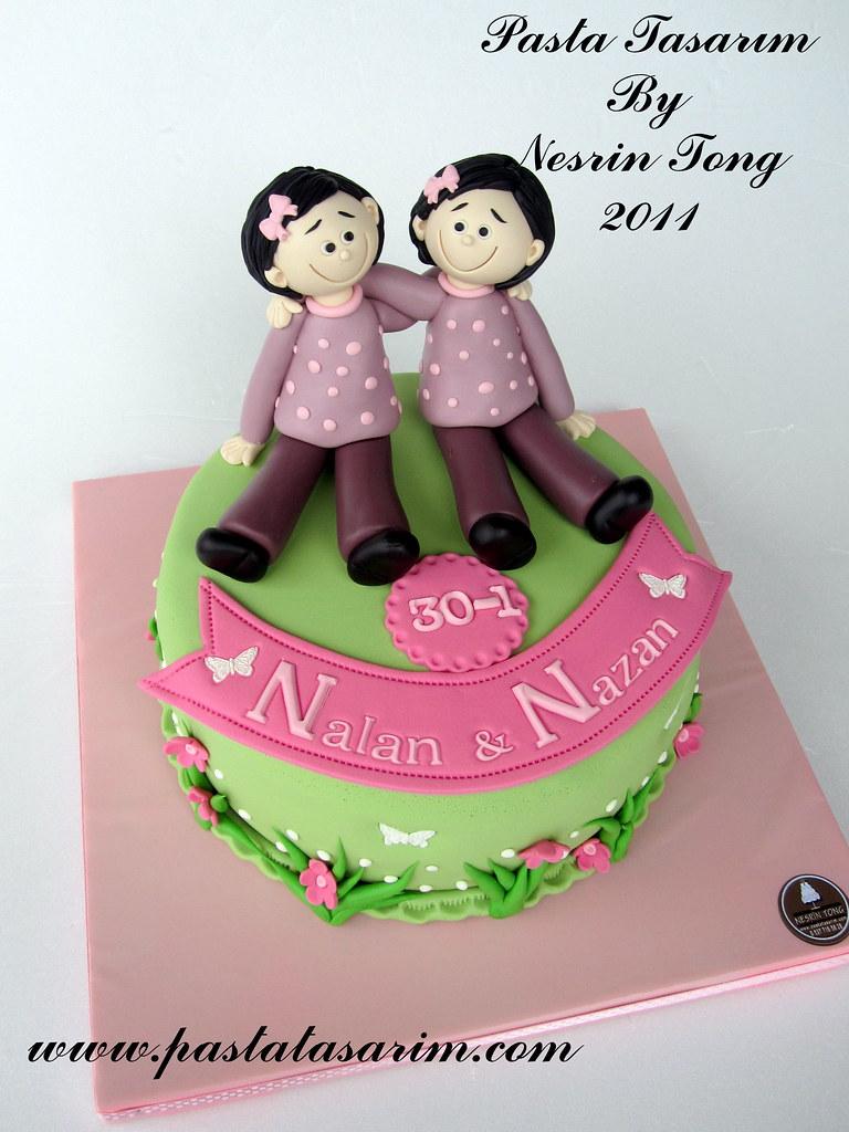 TWINS SISTERS BIRTHDAY CAKE wwwpastatasarimcom CAKE BY NESRN