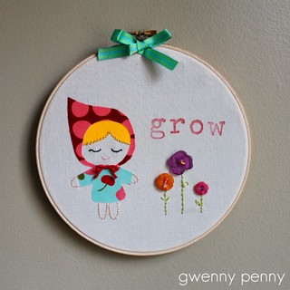 Spring Embroidery Hoop Art | by Gwenny Penny