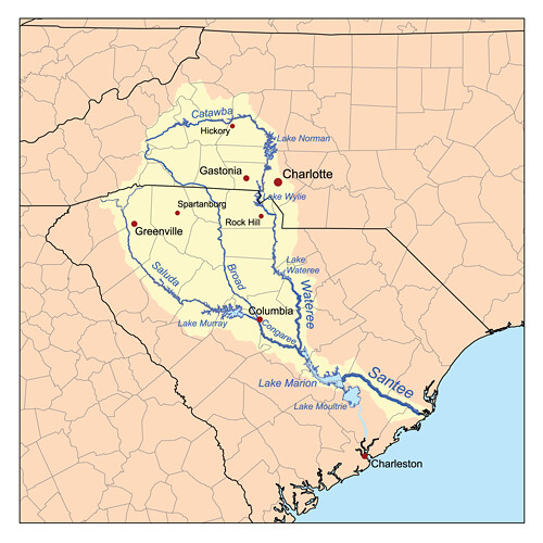 Santee River Watershed | Map of the Santee River Watershed. … | Flickr