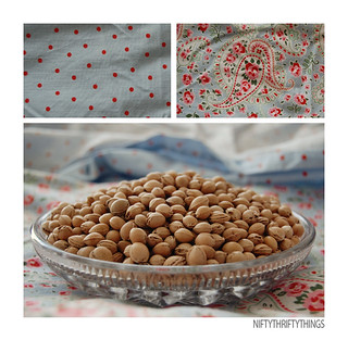 {cherry pit pillow} | by {nifty thrifty things}