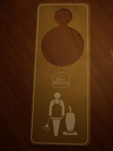 door hanger / logo design at Best Western Plus hotel   Flickr