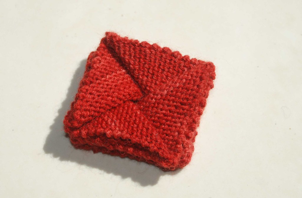Origami Purse 3 I Found A Pattern For A Knitted Origami Pu Flickr