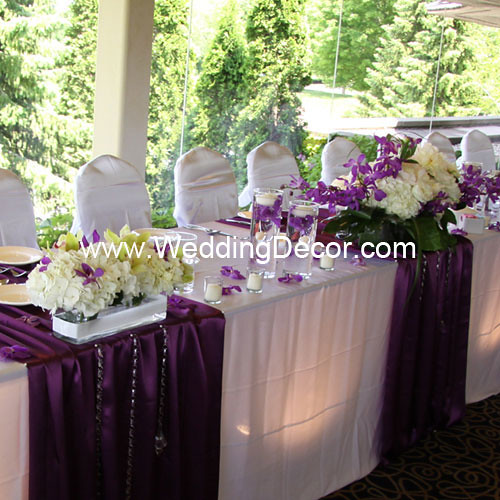 Head Table Decorations Purple Amp White Head Table