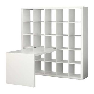 ikea expedit bookcase with desk one for everything else m flickr. Black Bedroom Furniture Sets. Home Design Ideas