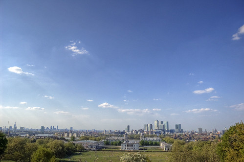 A view of London and Canary Wharf from Greenwich Park | by yorkshire stacked