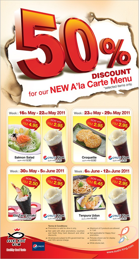 Sushi King 50 Discount For The New A La Carte Menu Flickr