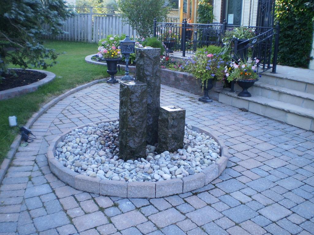 Beau ... Stone Garden Centerpiece   By Rainbow Landscaping