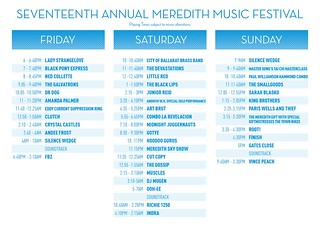 MMF2007 Playing Times | by Aunty Meredith