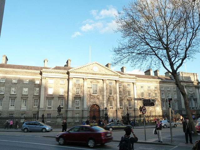 Taking photos at Trinity College Dublin 07 April