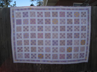 purple/yellow 9 patch | by Leigh - leedle deedle quilts