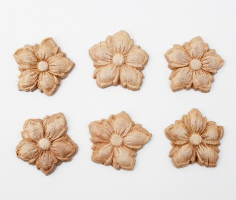 carved wood flower embellishment the gypsy factory emporium flickr