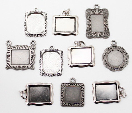 Silver Metal Picture Frame Charms   The Gypsy Factory Emporium   Flickr