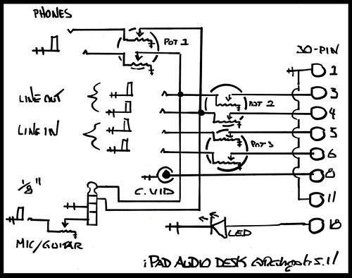 ipad audio desk schematic