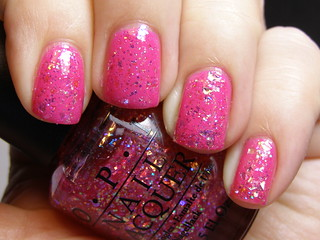 OPI I Lily Love You over IsaDora Power Pink | by neglelakkmani