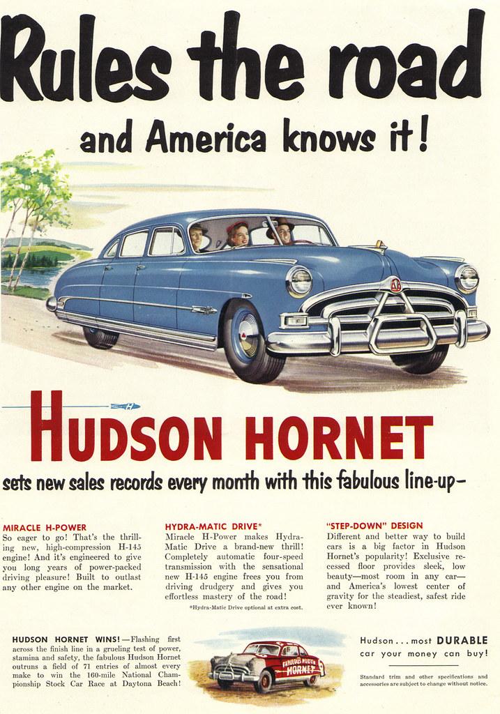 Vintage Ad #1,484: The Hudson Hornet Rules the Road | Flickr