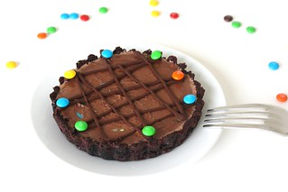 Chocolate M&M Ice Cream Tart | by Tracey's Culinary Adventures