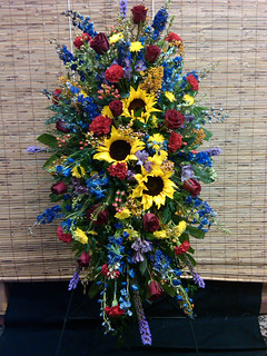 April Flowers Florist Cake Topper