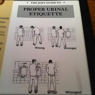 Urinal Etiquette. Bathroom Problems   by Tony Tedone   Medium