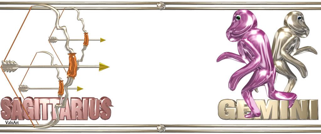Valxart's Sagittarius Gemini zodiac friendship gifts by Va… | Flickr