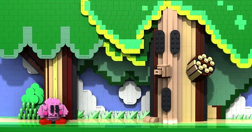 Kirby meets Whispy Woods | by wagner of the brick