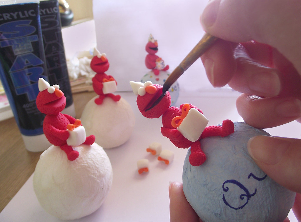 Elmo Cake Topper Work In Progress 2 Funny And Lovely Han