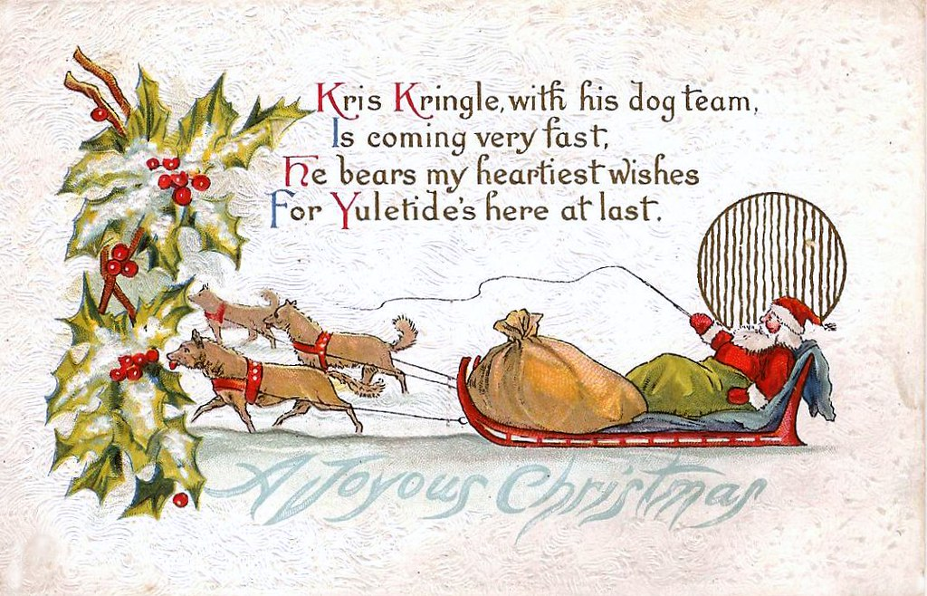 VINTAGE CHRISTMAS CARD | bitsorf: Thank you 1,500,000 times | Flickr