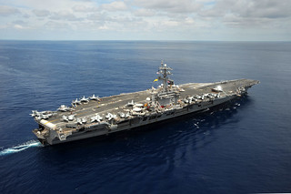 USS Dwight D. Eisenhower is underway in the Atlantic Ocean. | by Official U.S. Navy Imagery