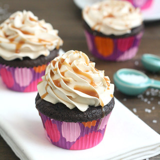 Dark Chocolate Salted Caramel Cupcakes | by Tracey's Culinary Adventures