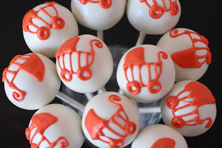 Orange Baby Stroller Cake Pops | by Sweet Lauren Cakes