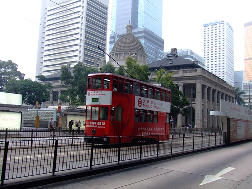 Double-decker trolley in Central Hong Kong. | by iwantchai