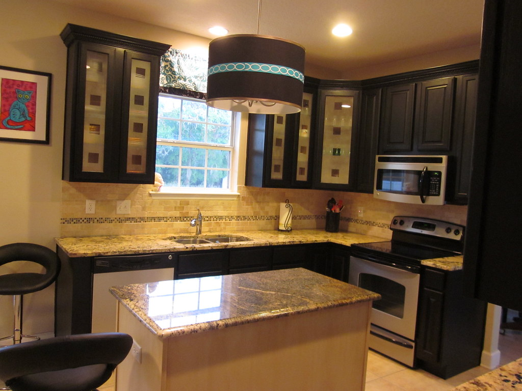 Black Kitchen Cabinets Frosted Glass Cabinet Doors Delic Flickr