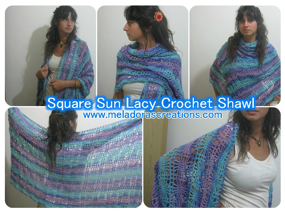Square Sun Lacy Crochet Shawl Combined Find The Pattern An Flickr
