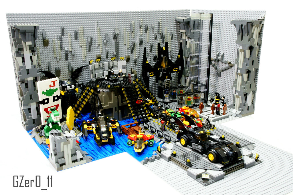 Lego Batcave Moc Left View Here You Have My First Big Mo Flickr