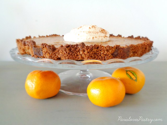 Pumpkin Spice Pie with Oats Crust