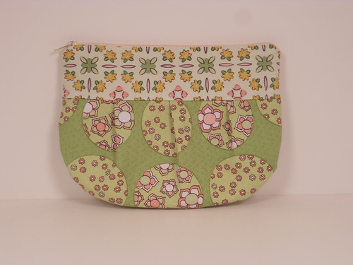 Pink and green circle pattern Leigh wallet | by Abigail~Leigh