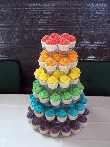 Rainbow Cake Background