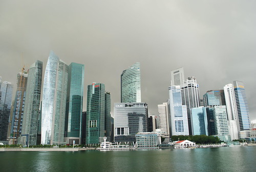 Marina Bay and Singapore skyline before a storm | by mjdoughty
