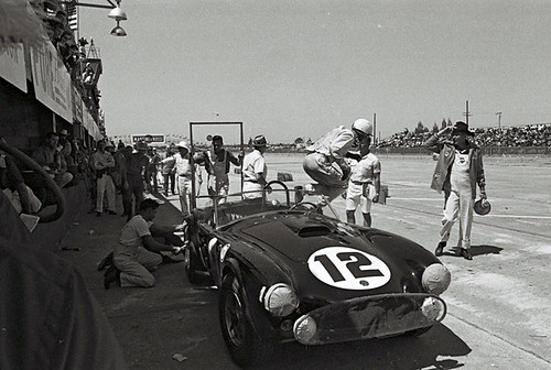 Phil Hill in for a pit stop at Sebring 1963 | by Nigel Smuckatelli
