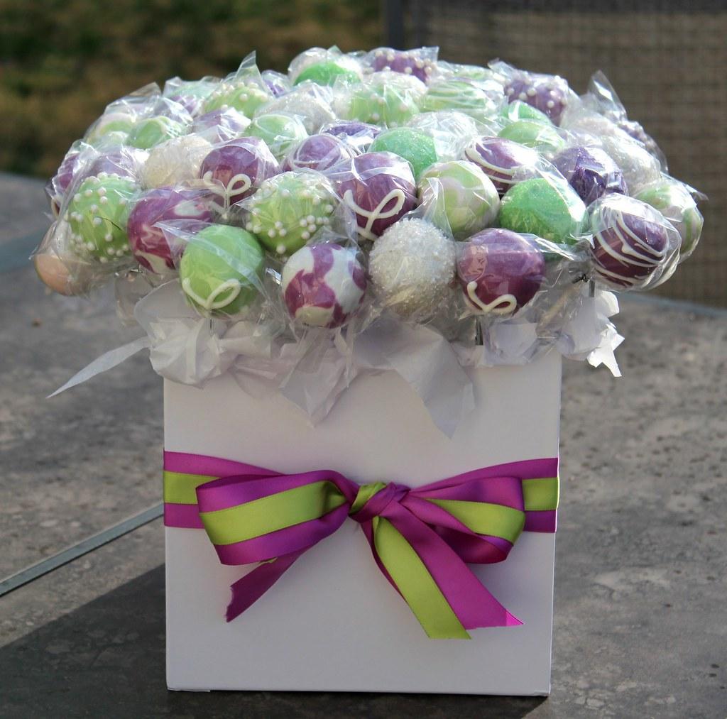 bridal shower cake pops by eatacakepop
