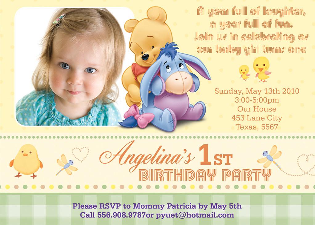 Winnie The Pooh- Custom Birthday Invitation | Printable Birt… | Flickr