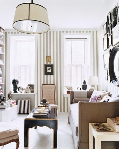 Coco kelley beige and white living room stripes for Living room west 6 brooklyn