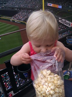Maisy's first Kettlecorn | by Megan and Ross