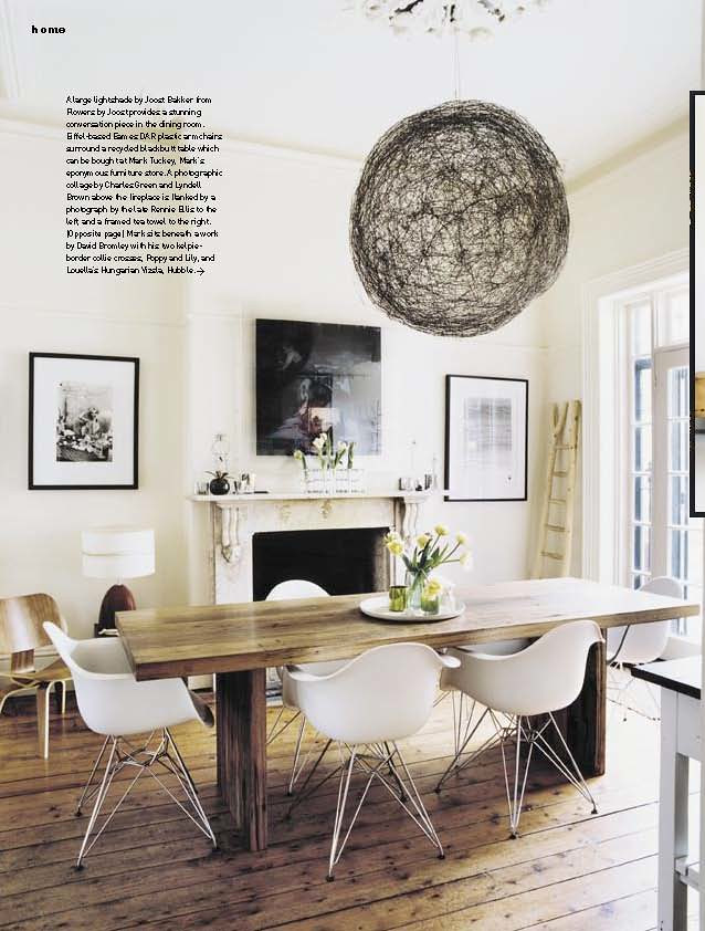 Trendy Luella Potter Mark Tuckey Via Inside Out Eclectic White Rustic Modern Dining Room With