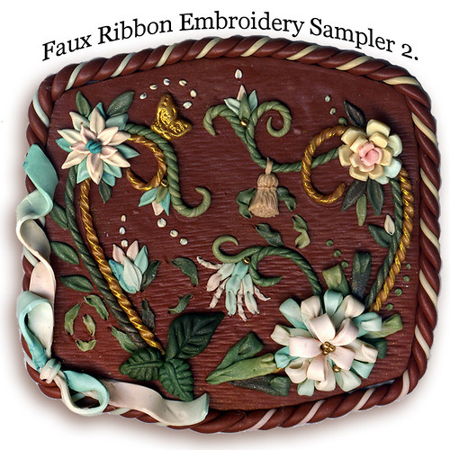 Sampler of faux ribbon embroidery penni jo couch flickr
