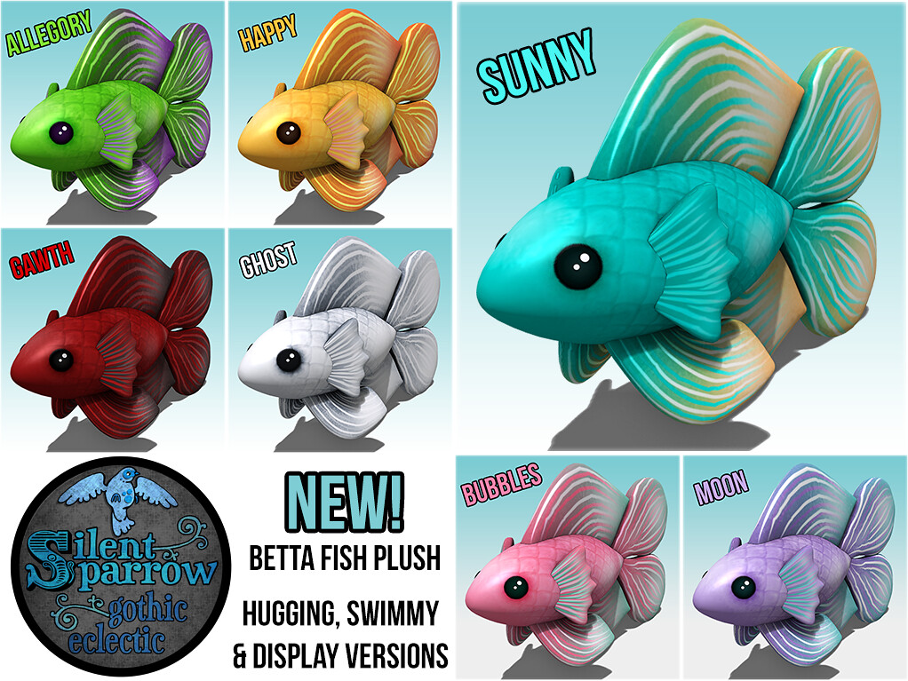 New Betta Fish Plush Silentsparrow Wearable Swimmy Hu Flickr