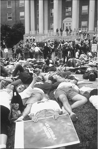 ACT UP Demonstration on the lawn of Building 1 | by History at NIH